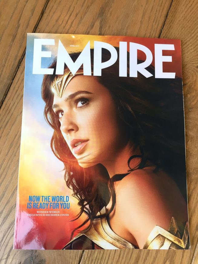 La cover di Empire per gli abbonati con Wonder Woman