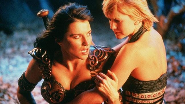 Xena e Olimpia nella serie originale di Xena