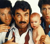 Tom Selleck Steve Guttenberg e Ted Danson in una immagine del film Tre scapoli e un bebè