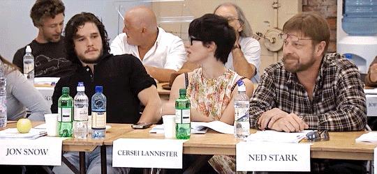 Kit Harington, Lena Headey e Sean Bean al tempo della prima stagione di GoT
