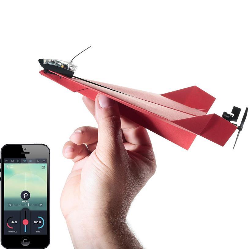 Aereo di carta da pilotare con smartphone