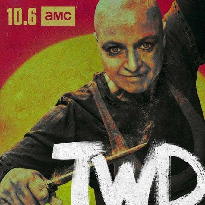 Alpha, la leader dei Sussurratori, nel suo character poster di The Walking Dead 10