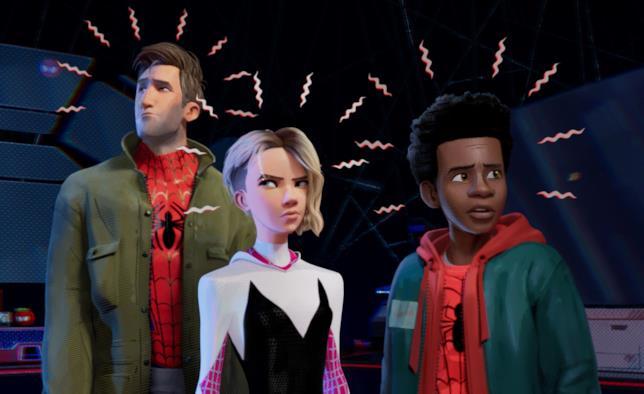 Alcuni dei personaggi di Spider-Man: Un Nuovo Universo