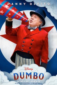 Il character poster di Dumbo dedicato a Max Medici
