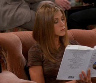 Rachel di Friends legge