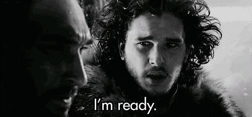 Jon Snow in una gif di Game of Thrones