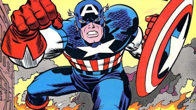 Capitan America è pronto all'azione con il suo iconico scudo
