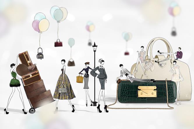 Le Susu Girls di JaeSuk Kim mentre sfoggiano alcune borse di Louis Vuitton