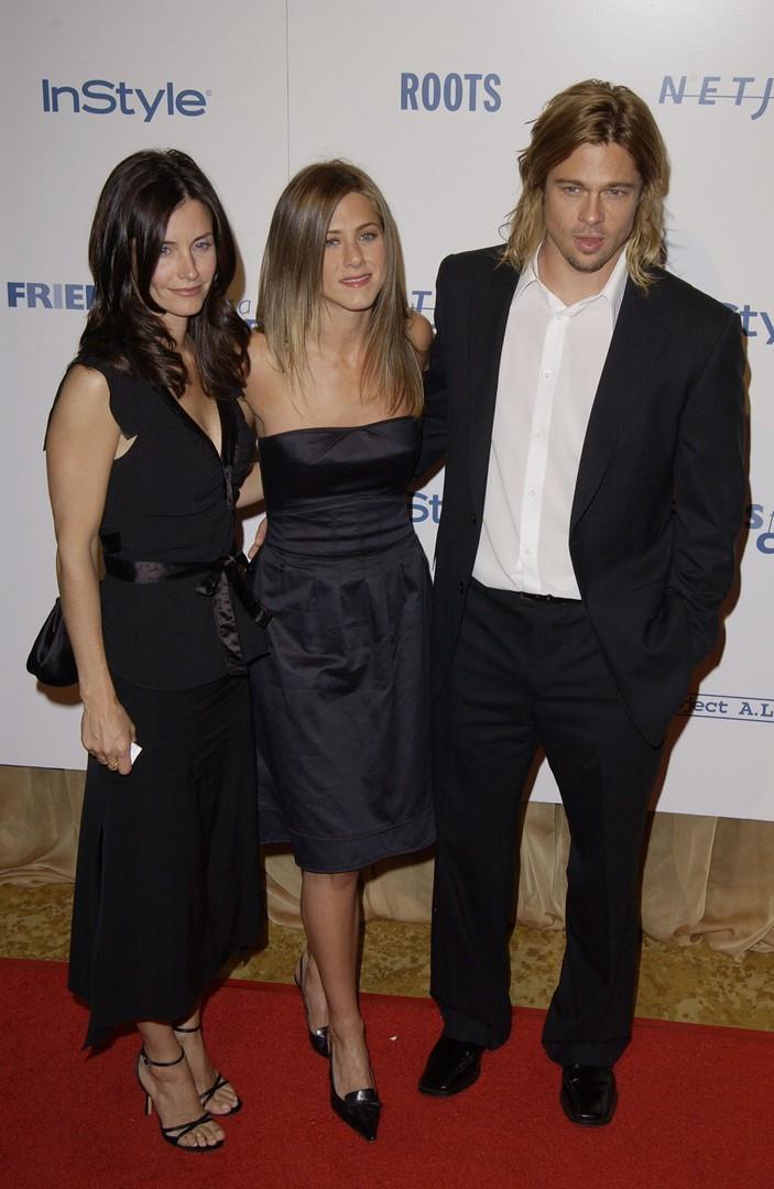 Courtney Cox, Jennifer Aniston e Brad Pitt sul red carpet