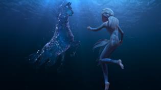 Il Nokk appare sott'acqua a Elsa