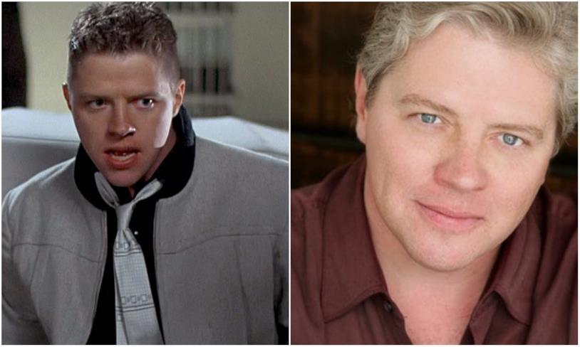 Biff Tannen e Thomas F. Wilson in un collage