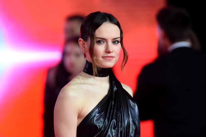 Daisy Ridley alla premiére di Star Wars: Gli ultimi Jedi