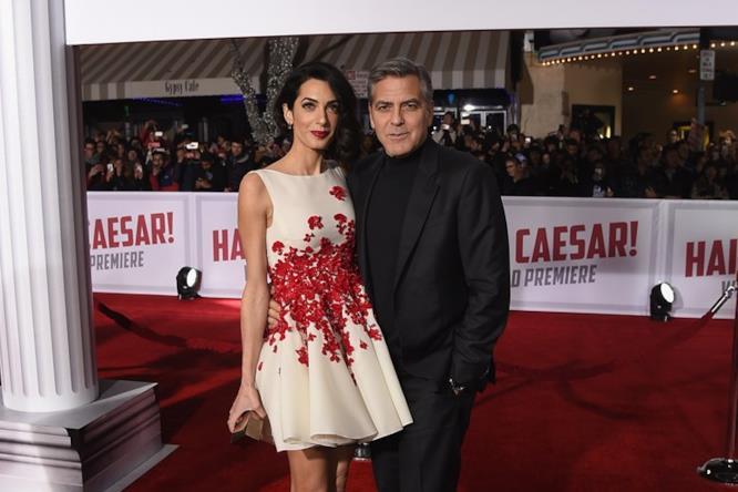 George Clooney e Amal alla presentazione di Hail, Caesar!