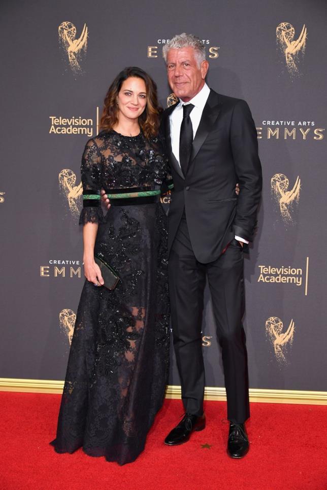 Anthony Bourdain e Asia Argento agli Emmy
