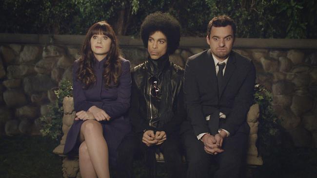 Prince nell'episodio di New Girl di cui è guest star