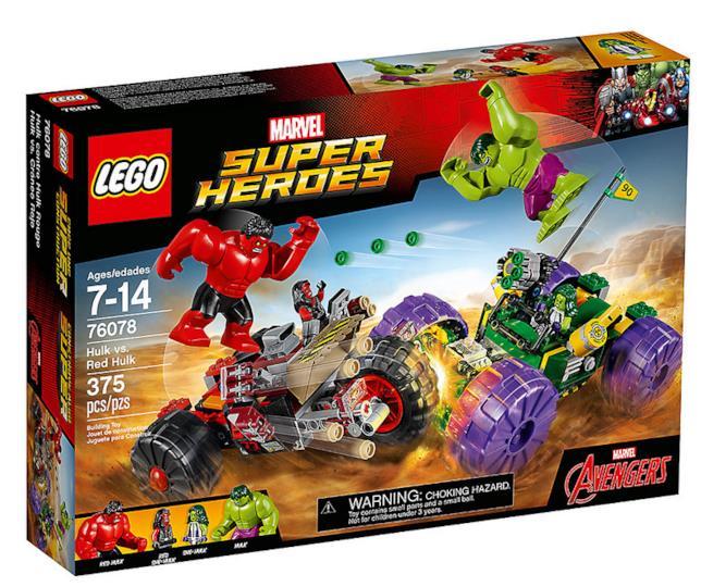 Dettagli del box del set Hulk contro Red Hulk di LEGO
