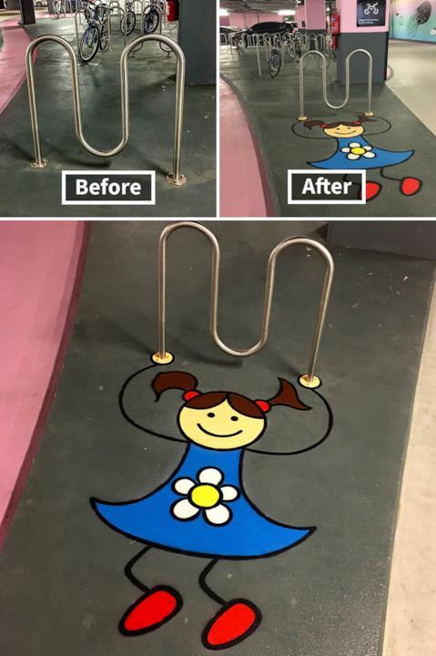 Le creazioni di Tom Bob: dissuasuore diventa la corda dove sta saltando una bambina