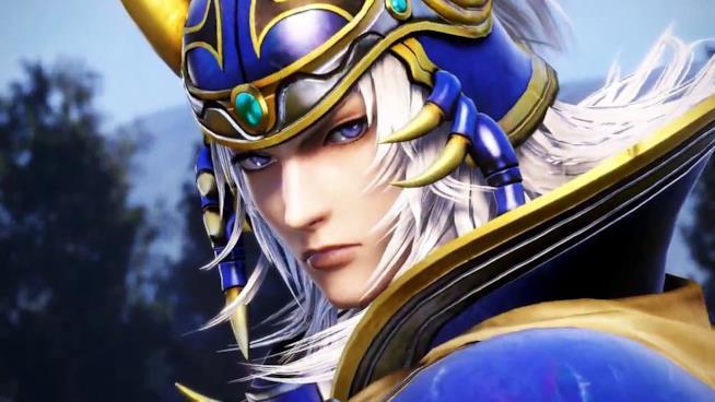 Primo piano per uno degli eroi di Dissidia Final Fantasy NT