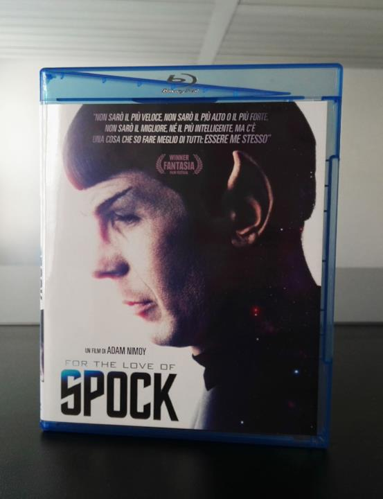 Leonard Nimoy sulla cover del Blu-ray italiano di For the Love of Spock