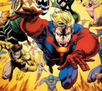 Ikaris e gli altri Eterni in una illustrazione estratta dai Marvel Comics