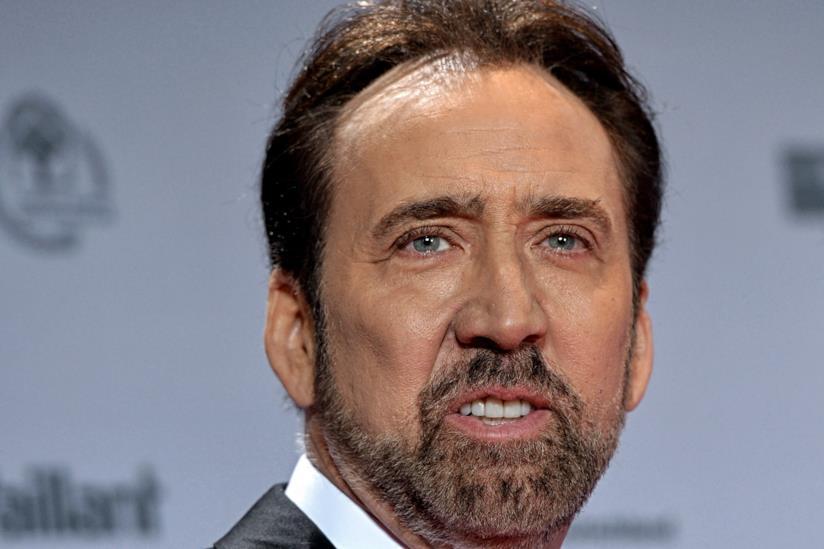 Un primo piano dell'attore Nicolas Cage