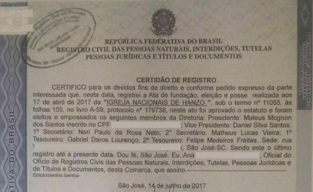 In Brasile nasce il culto di Hanzo