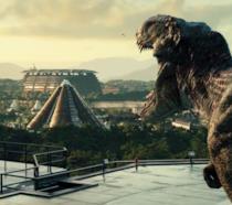 Una scena di Jurassic World