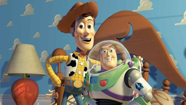Woody e Buzz di Toy Story doppiati da Tom Hanks e Tim Allen