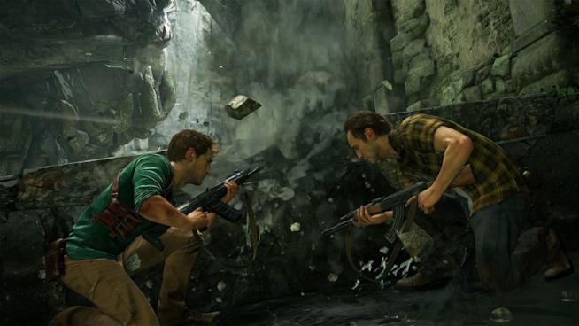 Nathan Drake e suo fratello Sam in azione nel multiplayer di Uncharted 4