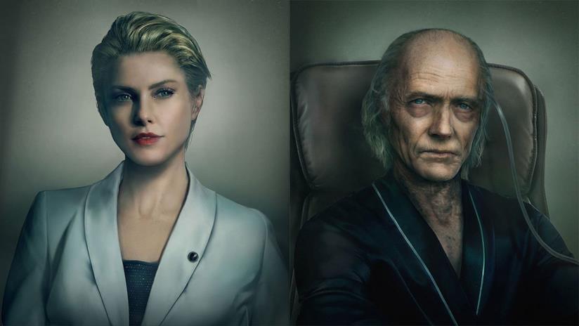 Alex Wesker e Ozwell E. Spencer in Resident Evil 3 Resistance