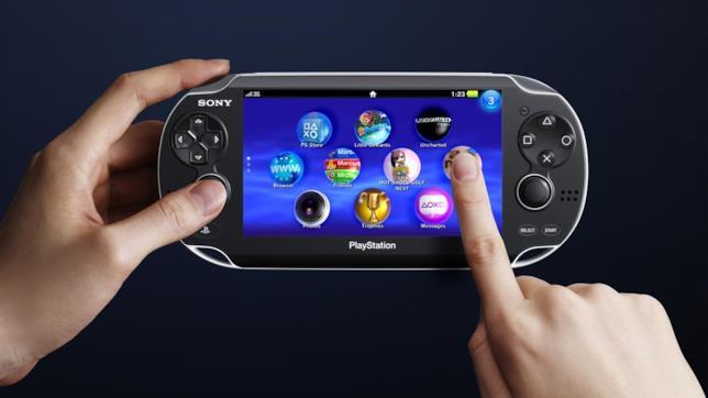 PS Vita in uso con il suo touchscreen