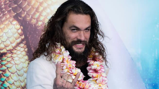 Jason Momoa alla première di Aquaman