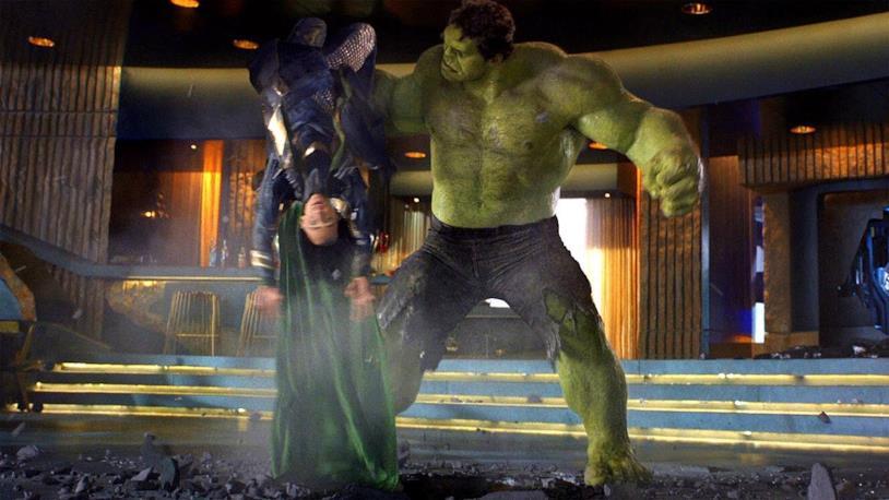 Hulk vs Loki in Avengers (2012)