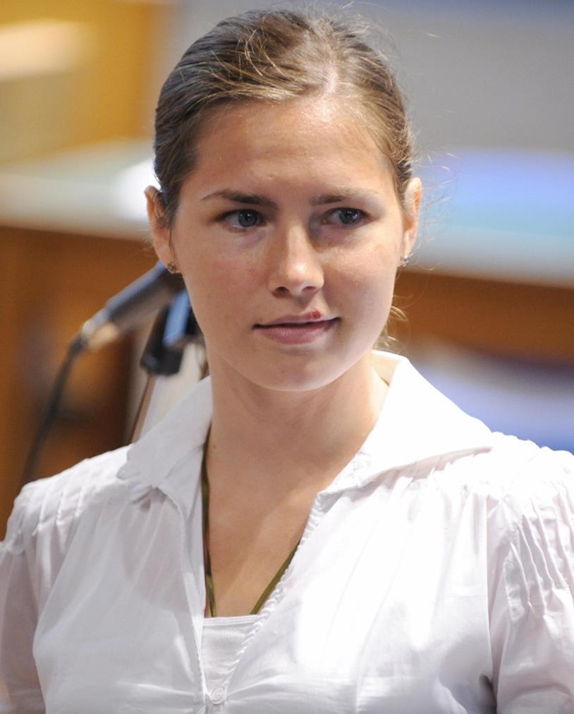 Amanda Knox durante il processo