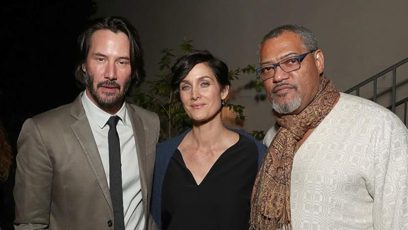Keanu Reeves, Laurence Fishburne e Carrie-Anne Mos