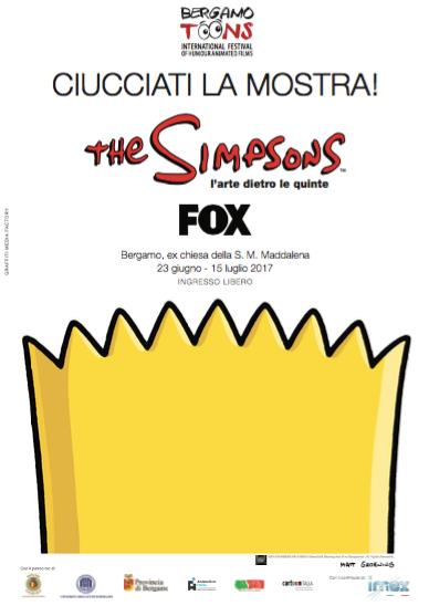 Locandina mostra Simpson BergamoToons