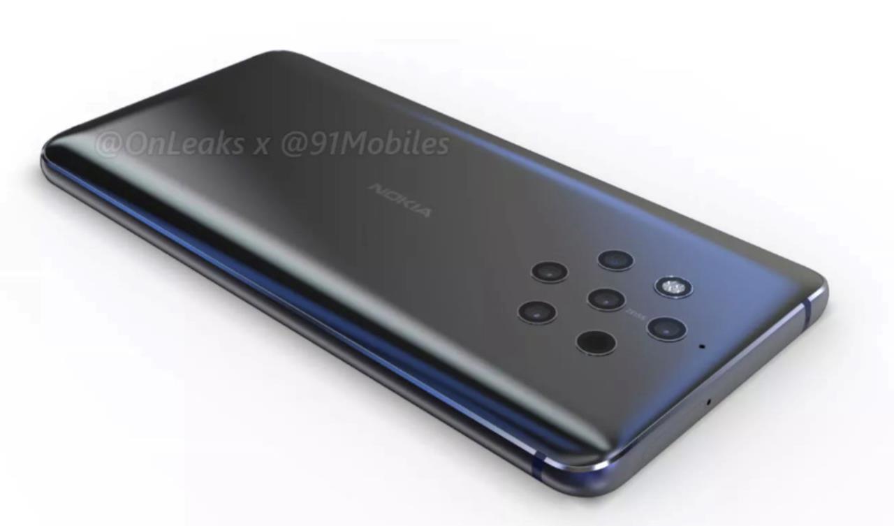 Le cinque fotocamere sulla scocca posteriore del Nokia 9