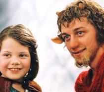 Lucy Pevensie ed il signor Tumnus nel primo capitolo della saga cinematografica