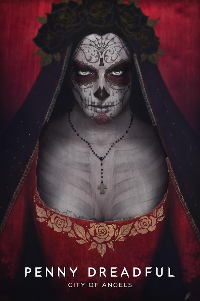 Locandina pubblicitaria di Penny Dreadful: City of Angels, nella quale è raffigurata la Santa Muerte