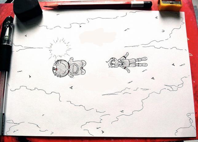 Nobita vola verso il Paradiso