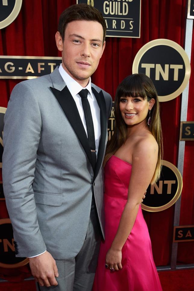 Lea Michele e Cory Monteith a un evento ufficiale