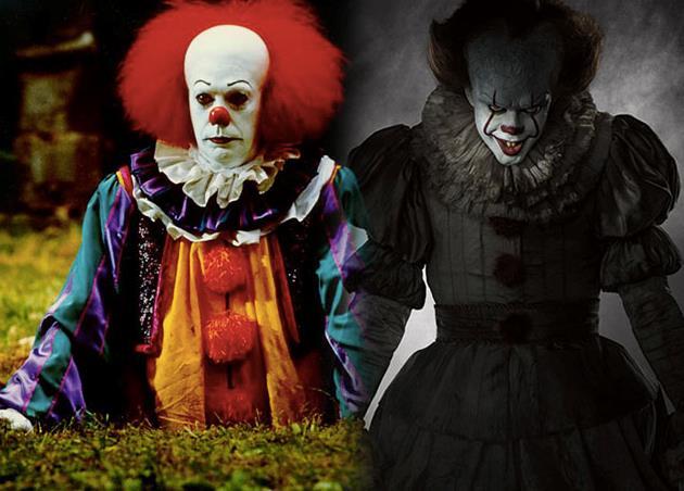 Confronto tra i clown di IT 1990 e IT 2017