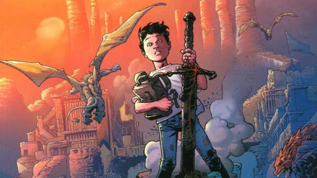 Mikey, il protagonista del fumetto, dalla copertina del primo volume