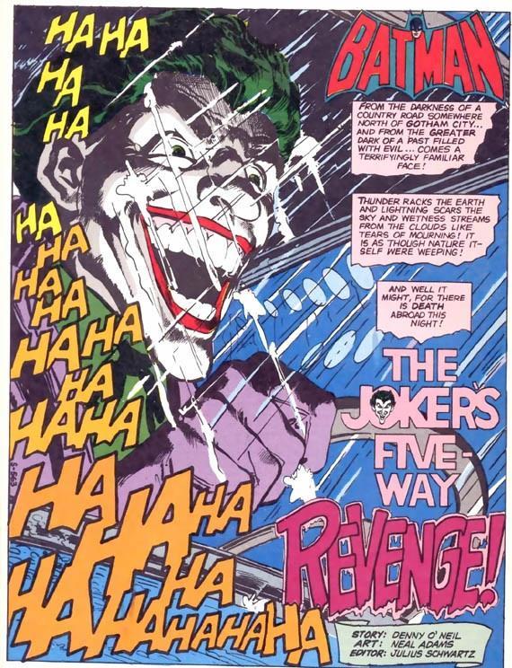 Prima pagina interna del #251 di Batman, disegnata da Neal Adams