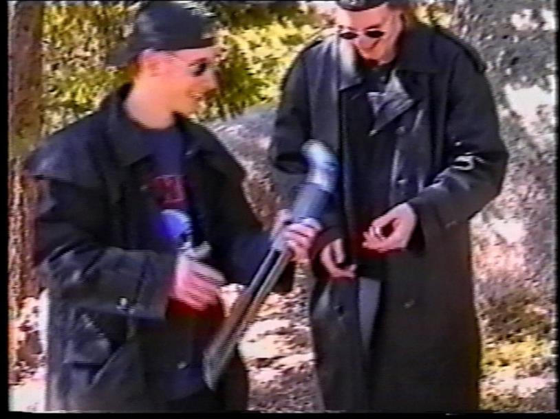 I killer di Columbine in uno dei loro video