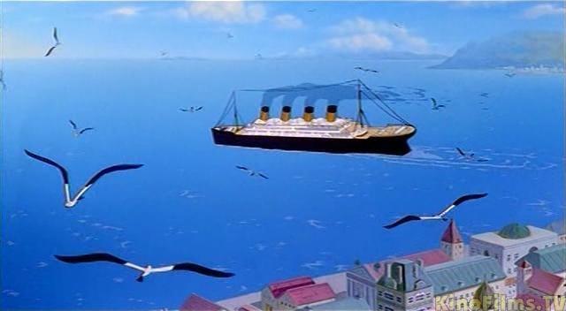 Il Titanic nel film di animazione Titanic - La Leggenda Continua