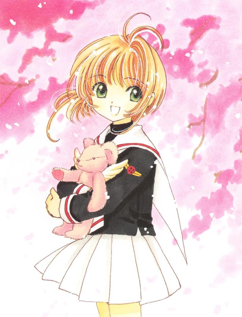 Sakura Kinomoto e un orsacchiotto