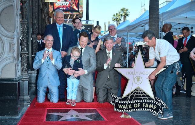 Chris Pratt riceve la sua stella sulla Walk of Fame a Los Angeles