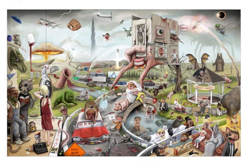 Il poster di Jordan Monstell pieno zeppo di riferimenti a Stephen King