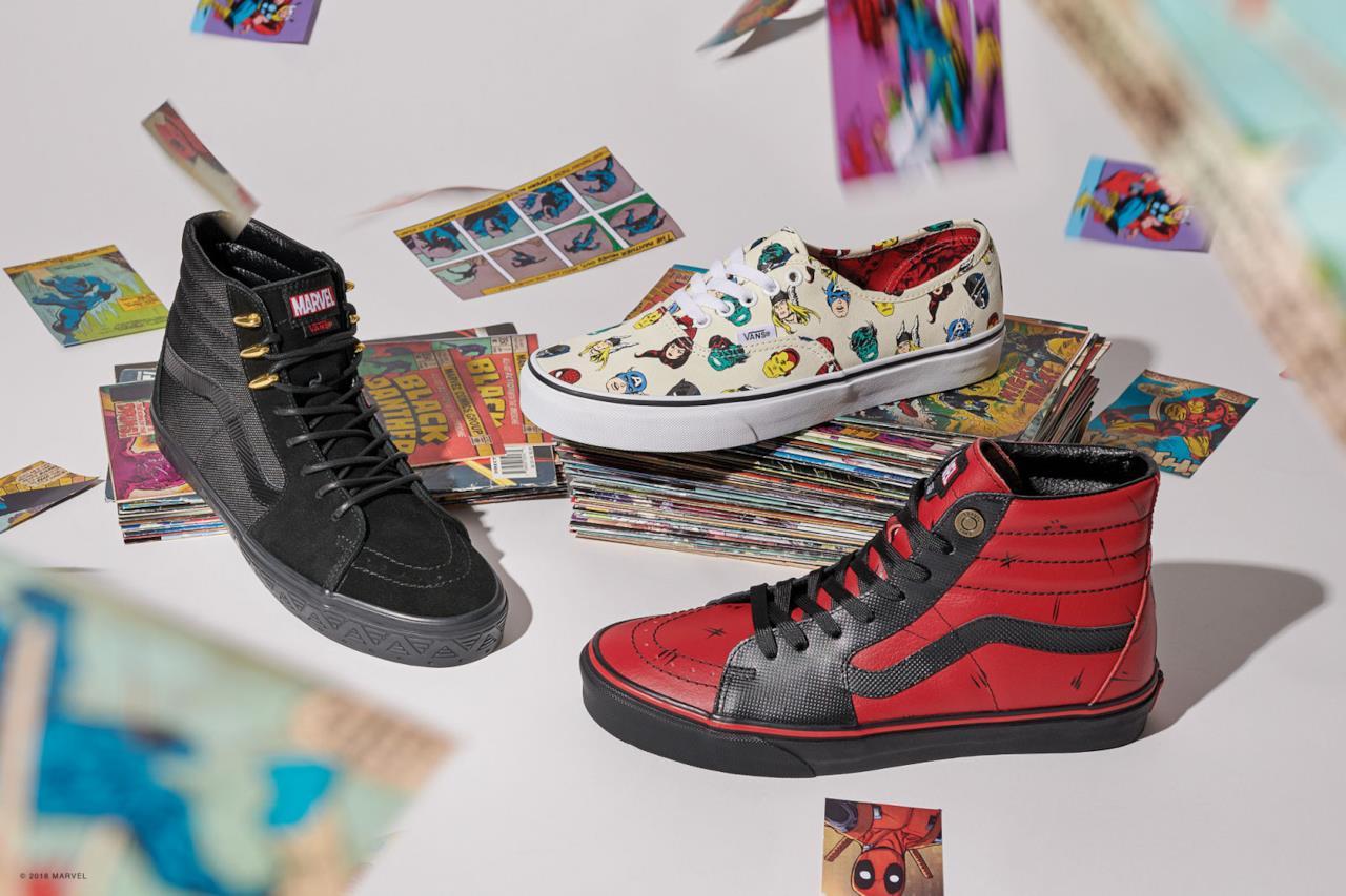Anche l'antieroe Deadpool ha la sua scarpa nella collezione Marvel x Vans